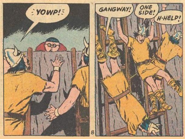 Vikings try to get away from Herbie.