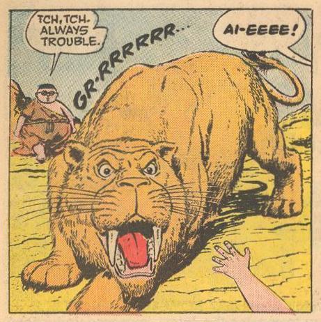 A saber-toothed tiger.