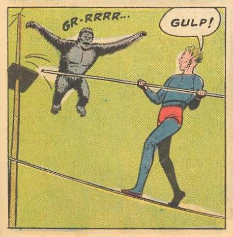 Poor Example : A villain in gorilla suit is just trying to be scary.