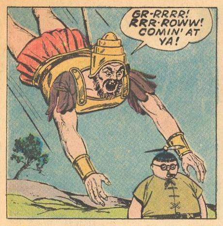 Goliath attacks Herbie.