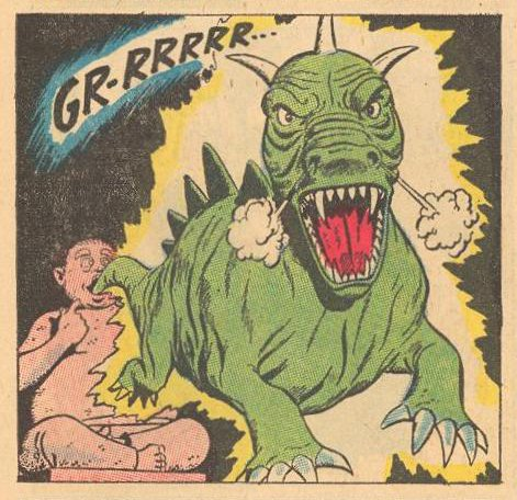 An angry dragon.