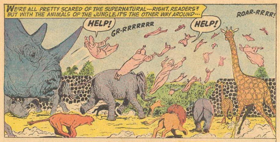 Pseudo Example : Animals scare away the supernatural.