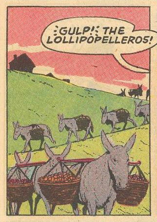 Herbie travels with a surprising load of lollipops .