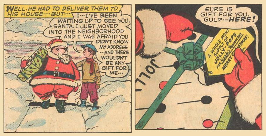 Herbie has to swallow hard to give away his own X-Mas gift.