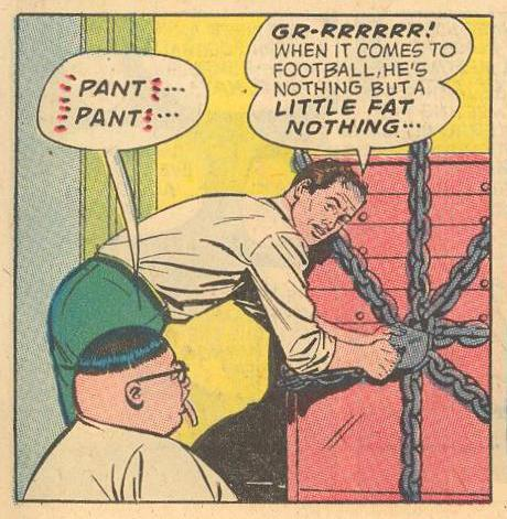 "Herbie, as Dad unlocks his lollipops , ""PANT""..."