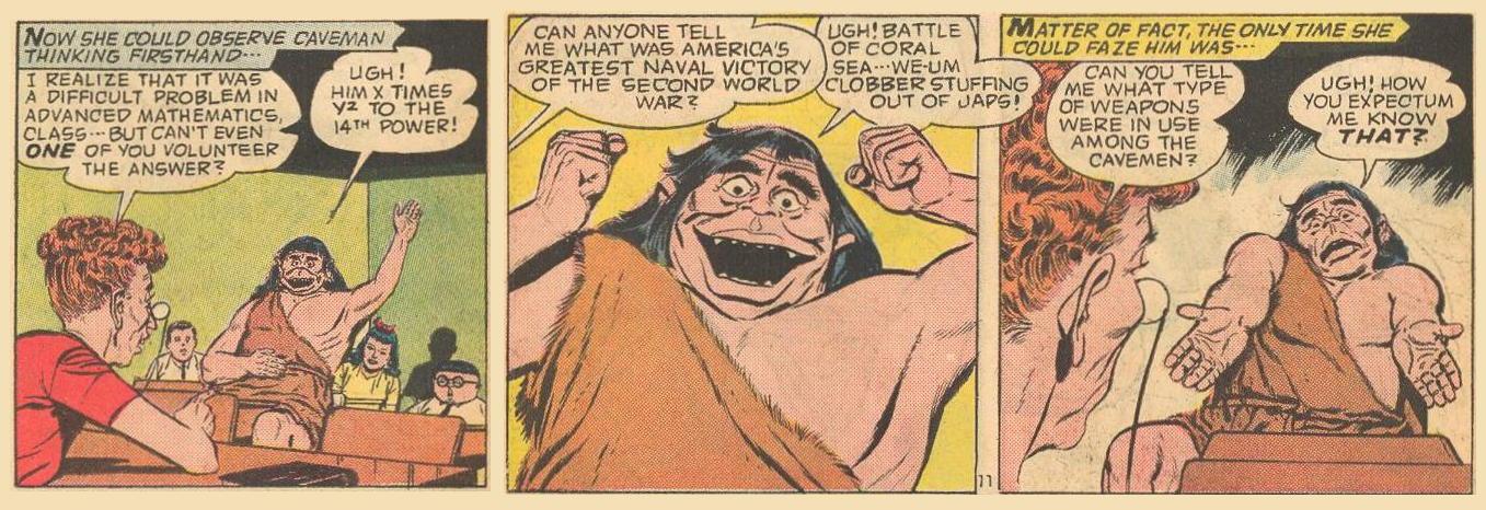 Stereotype of Cavemen.