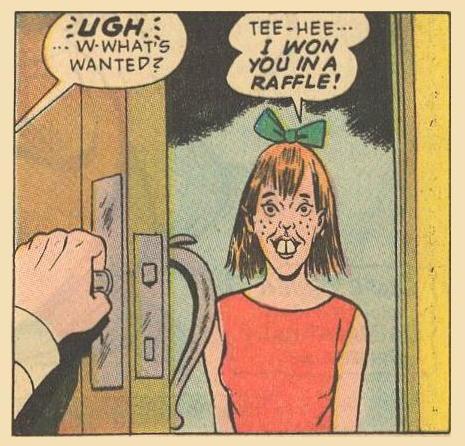 Herbie reacts to Hepzibah Higgins.