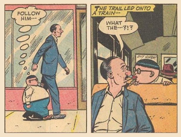 Villain being followed by Herbie