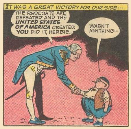 I don't know George Washington's inseam, but Herbie looks shorter, perhaps because of his modesty .