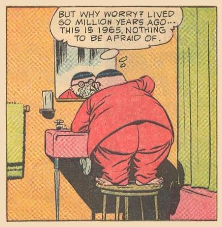 How Herbie uses the bathroom sink.