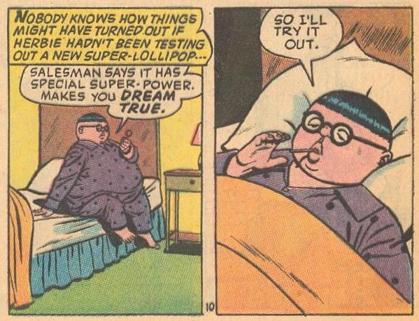 Herbie tests out a new super dream lollipop ...