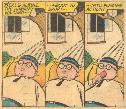 Herbie first appeared as a man of inaction in Forbidden Worlds #116 .