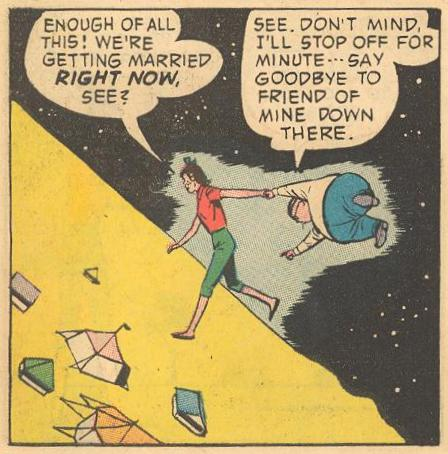 In #16b , Hepzibah Higgins walks in space just like Herbie.