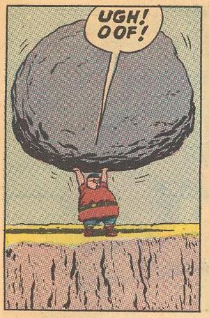 In #21b , Herbie straining.