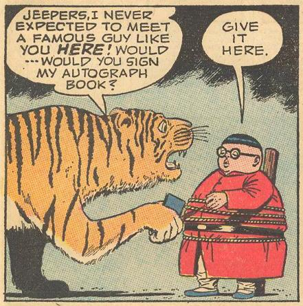 Herbie is so famous , animals ask him for his autograph, like in #5a .