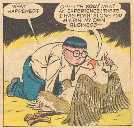 In Forbidden Worlds #110 , Herbie could show concern in his face , but he always showed it by his actions.