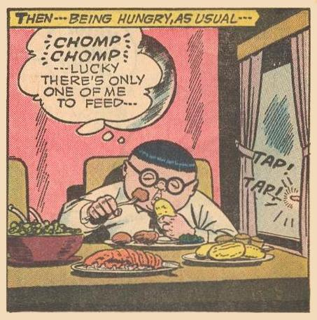 Duplicate Herbies interrupting Herbie's eating .
