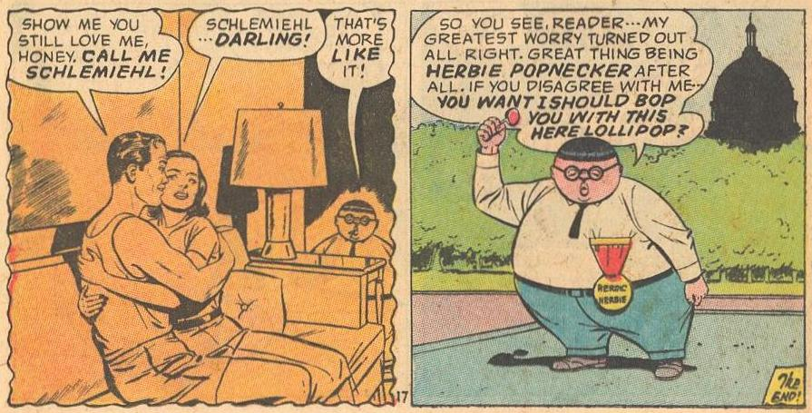 Herbie talking to and threatening the reader .