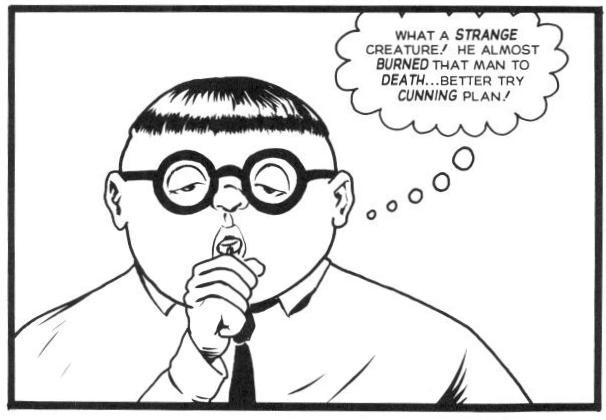 In Flaming Carrot #31 , Herbie's eyes are close to what they should be, but he never uses his eyes to his advantage.