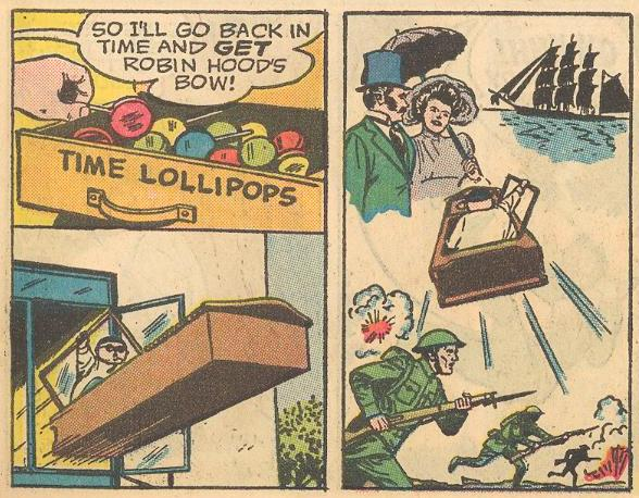 We begin the practice of traveling in time in odd numbered comics (the even ones were used for Fat Fury stories).