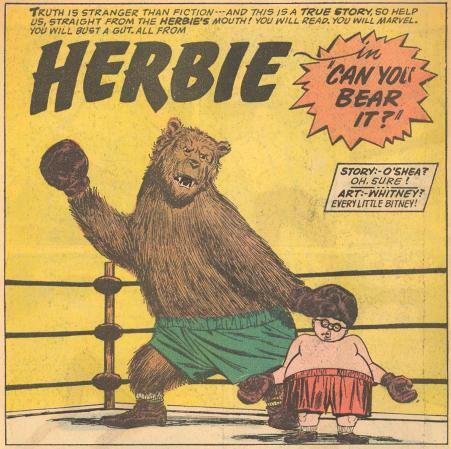 Themes: Time Travel ; Lollipops Compare the Whitney bear on this splash page to the Kurt Schaffenberger bear on the cover.