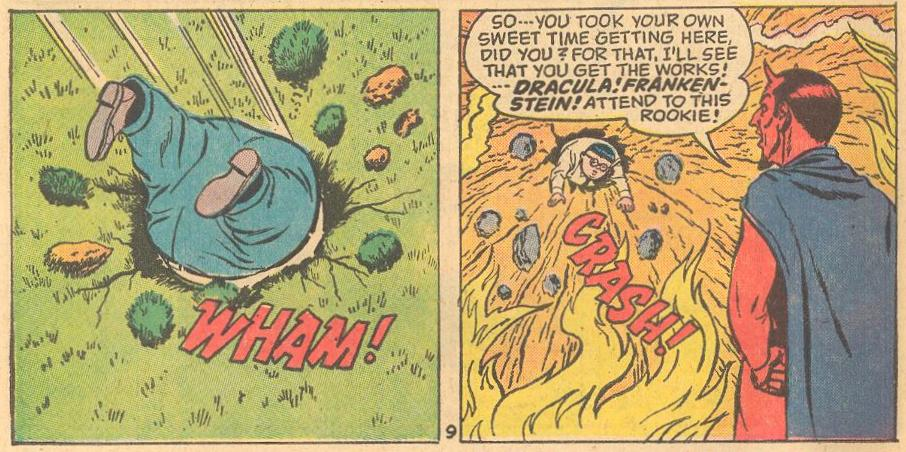 In Forbidden Worlds #116 , Herbie signs a contract with the Devil and has to show up for his end of the deal.