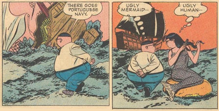 Herbie does not always walk underwater.