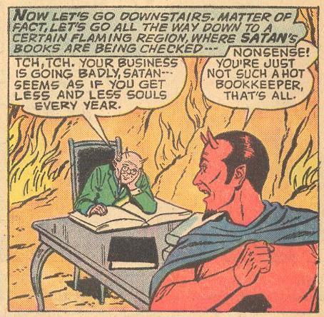 In FW #116 Satan lurks down in Hades...