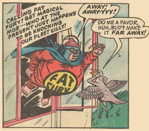 Fat Fury's call to action gets a negative response from a bird .
