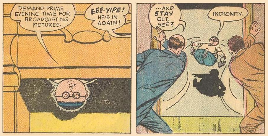 But Herbie, unwanted as ever, is back, only to be thrown out again, to land butt first.